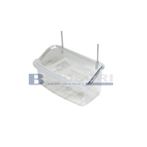 Quiko그릴 모이통(Clear Trough, 10cm with grill)Art. 172